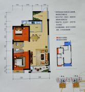 曼哈顿商业广场2室2厅1卫89平方米户型图