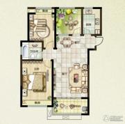 绿都万和城2室2厅1卫96平方米户型图