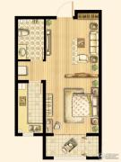 尚品燕园1室1厅1卫58平方米户型图