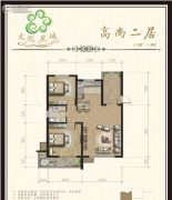 文化星城2室1厅1卫0平方米户型图
