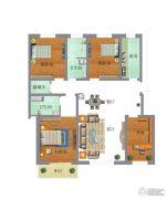 苏园4室2厅2卫168平方米户型图