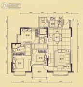 中金城投・九龙湾3室2厅2卫100平方米户型图