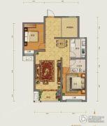 勒泰城2室2厅1卫97平方米户型图