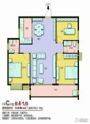 上海花园・新外滩3室2厅2卫118平方米户型图