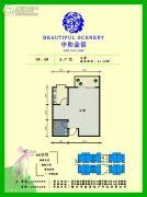 中和金佰1室1厅1卫54平方米户型图