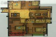 世茂天慧3室2厅1卫105平方米户型图