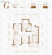 路劲太阳城3室2厅1卫0平方米户型图