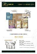 朗诗太湖绿郡3室2厅1卫93平方米户型图