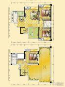 远达天际上城3室2厅2卫101平方米户型图