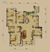 龙湖源著3室2厅2卫126平方米户型图