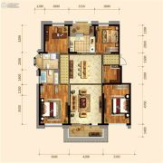 金地檀府4室2厅2卫138平方米户型图