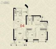 广州绿地城3室2厅2卫91平方米户型图