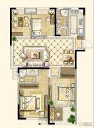 四季金辉4室2厅2卫107平方米户型图