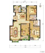 中国铁建・北京山语城3室2厅2卫125平方米户型图