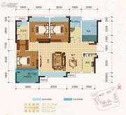 卓信金楠天街4室2厅2卫110平方米户型图