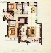 红木林2室2厅1卫138平方米户型图