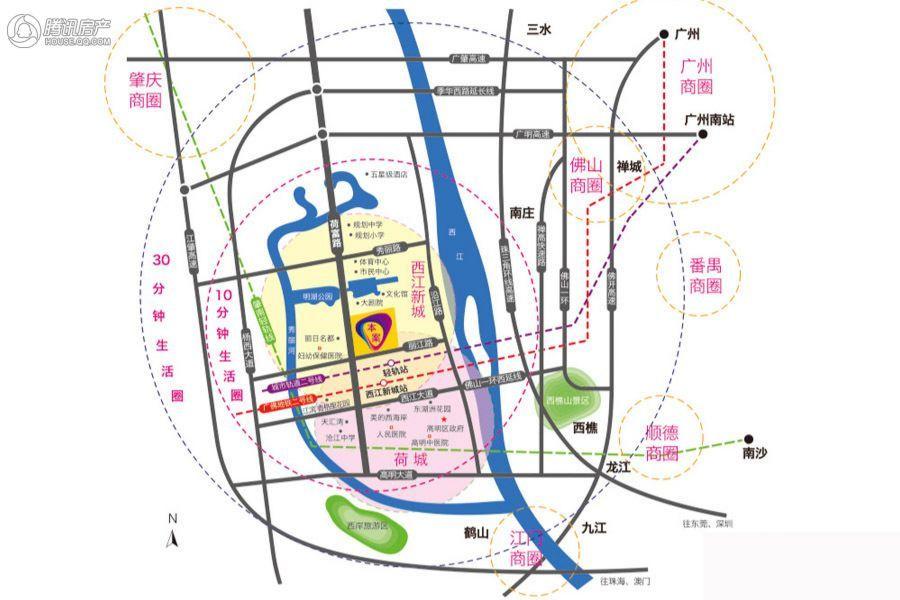 勤天汇交通规划图