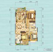 财信沙滨城市3室2厅2卫94平方米户型图