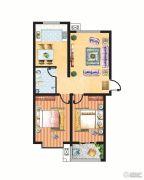 米苏阳光2室2厅1卫93平方米户型图