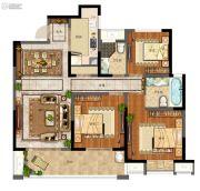 天地源拾锦香都3室2厅2卫123平方米户型图