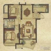 广洋海尚国际2室2厅1卫88平方米户型图