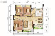 西岸翠景3室2厅2卫122平方米户型图