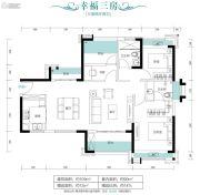 朗宁郡3室2厅2卫109平方米户型图