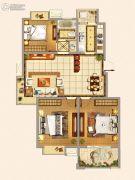仁和景苑3室2厅1卫100平方米户型图