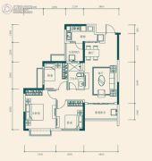 恒大世纪城3室2厅1卫84平方米户型图