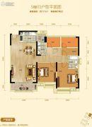 碧桂园东湖世家2室2厅2卫117平方米户型图