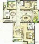 绿都万和城3室2厅2卫136平方米户型图