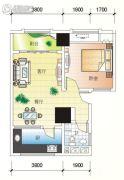北海大厦1室2厅1卫75平方米户型图