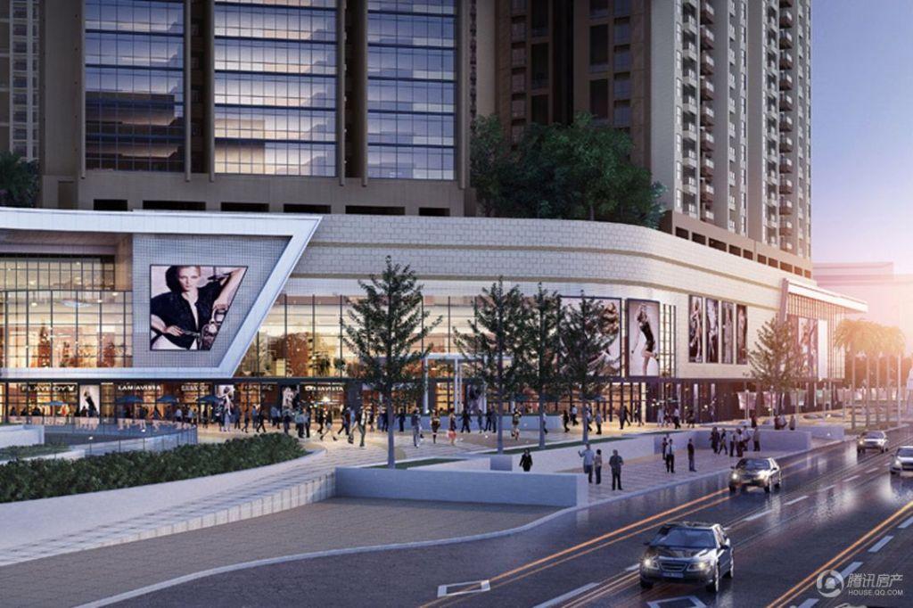 六和城项目东纵路商业沿街面效果图