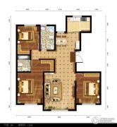 都市邻里3室2厅2卫128平方米户型图
