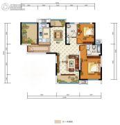 中国电建・湘熙水郡3室2厅2卫111平方米户型图