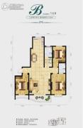 中央绿城3室2厅2卫159平方米户型图