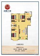 龙腾万象3室2厅2卫134平方米户型图