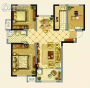 辉腾新天地3室2厅1卫117平方米户型图