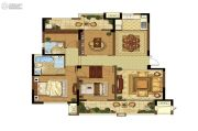 高科荣境3室2厅2卫137平方米户型图