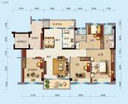 合浦碧桂园玖珑湾4室2厅2卫118平方米户型图