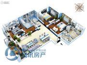 金石里巷3室2厅2卫126平方米户型图