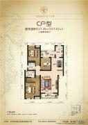 领南尚品3室2厅2卫117平方米户型图