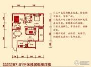 恒正紫阳首座2室2厅2卫97平方米户型图