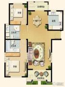世嘉光织谷2室2厅2卫128平方米户型图