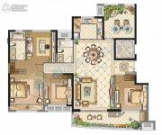 中海寰宇天下3室2厅2卫168平方米户型图