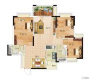 康格斯花园3室2厅1卫89--101平方米户型图