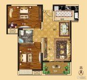 新龙御都国际2室2厅1卫96平方米户型图