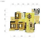 上林苑3室2厅1卫116平方米户型图