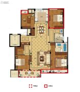 丽江半岛4室2厅2卫135--159平方米户型图