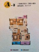 富盈.加州阳光3室2厅2卫111--112平方米户型图